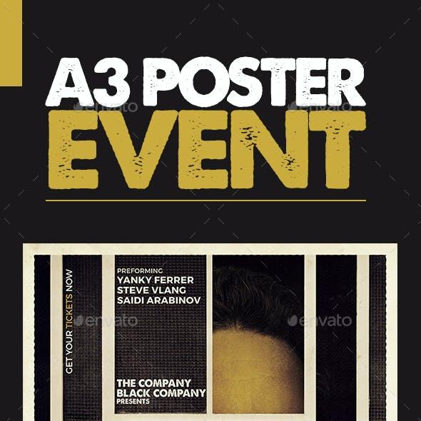 Retro Poster A3 Template