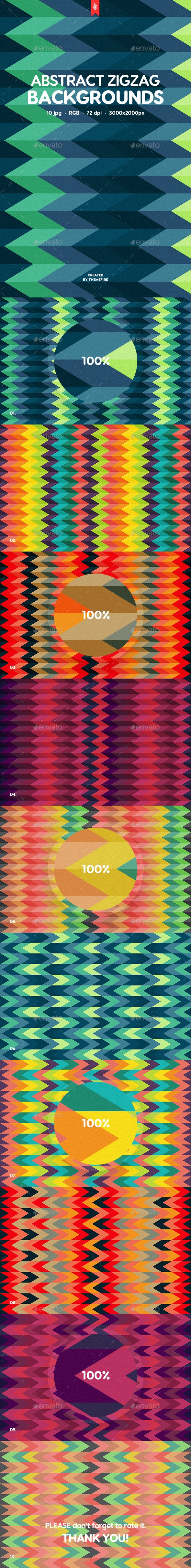 Abstract Zigzag Backgrounds - Patterns Backgrounds
