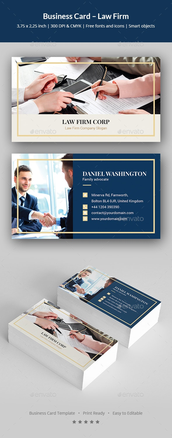 Business Card – Law Firm - Corporate Business Cards