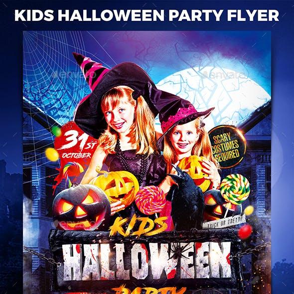 Kids Halloween Party Flyer