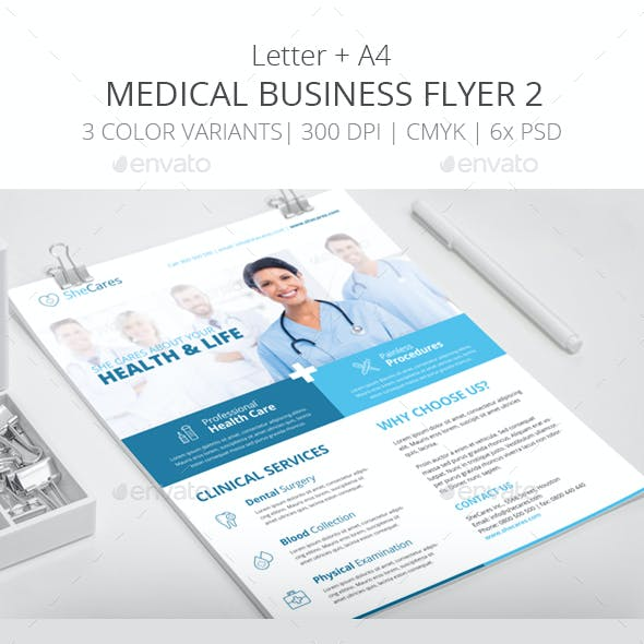Medical Business Flyer Template 2