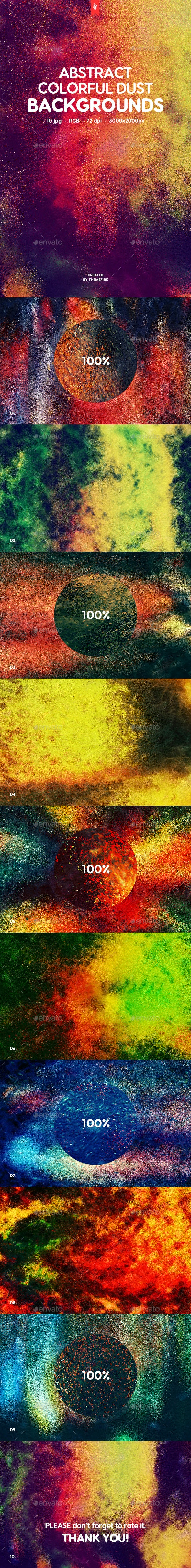 Abstract Colorful Dust Backgrounds - Abstract Backgrounds