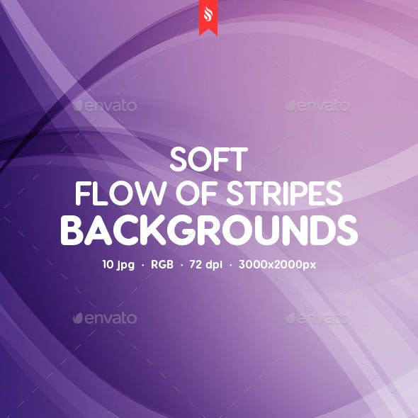 Soft Flow of Stripes Backgrounds