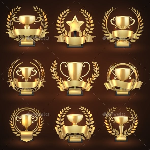 Golden Winner Trophy Cups, Prize Sports Awards
