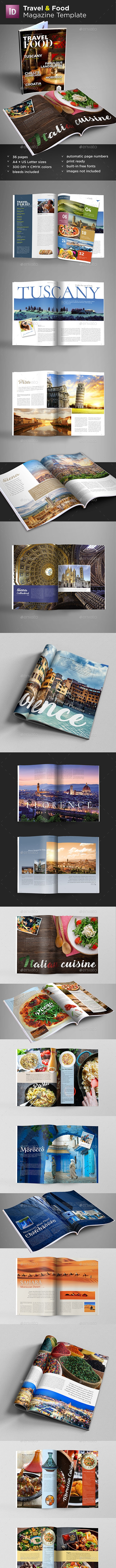 Travel & Food Magazine Template - Magazines Print Templates