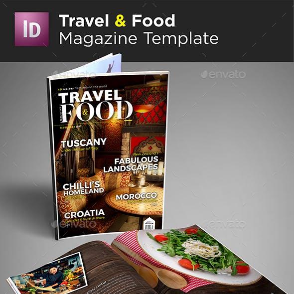 Travel & Food Magazine Template