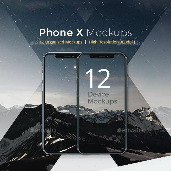 Phone X Device Mockups