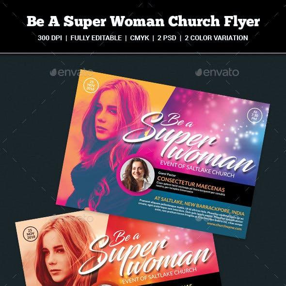 Be A Super Woman Church Flyer