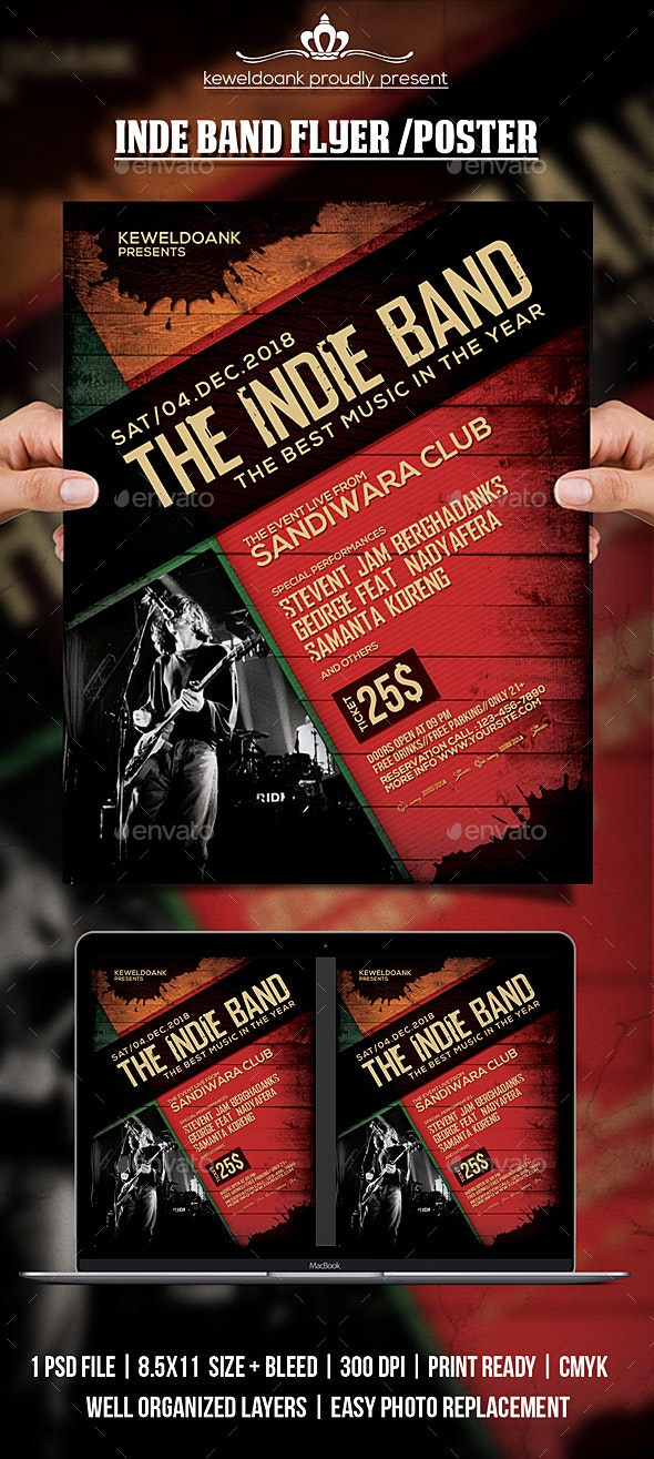 Indie Band Flyer / Poster - Events Flyers
