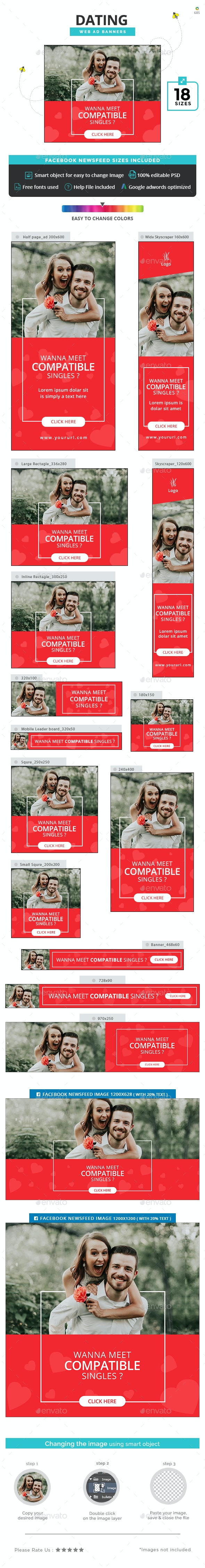 Dating Banners - Banners & Ads Web Elements