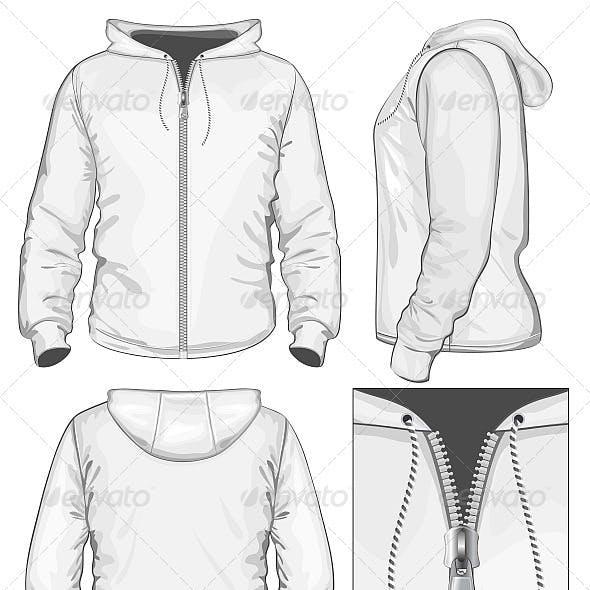 Men's Hooded Sweatshirt with Zipper