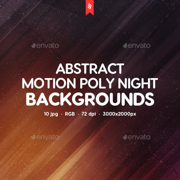 Abstract Motion Poly Night Backgrounds