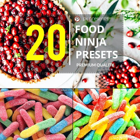 20 Food Ninja Premium Presets