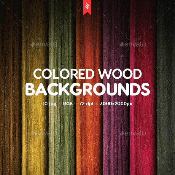 Colored Wood Backgrounds