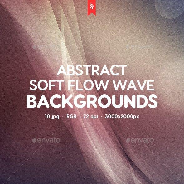 Soft Flow Wave Backgrounds