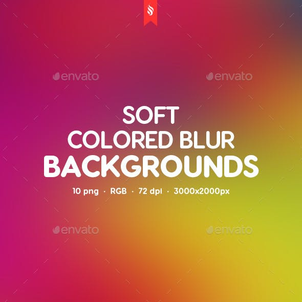 Soft Colored Blur Backgrounds