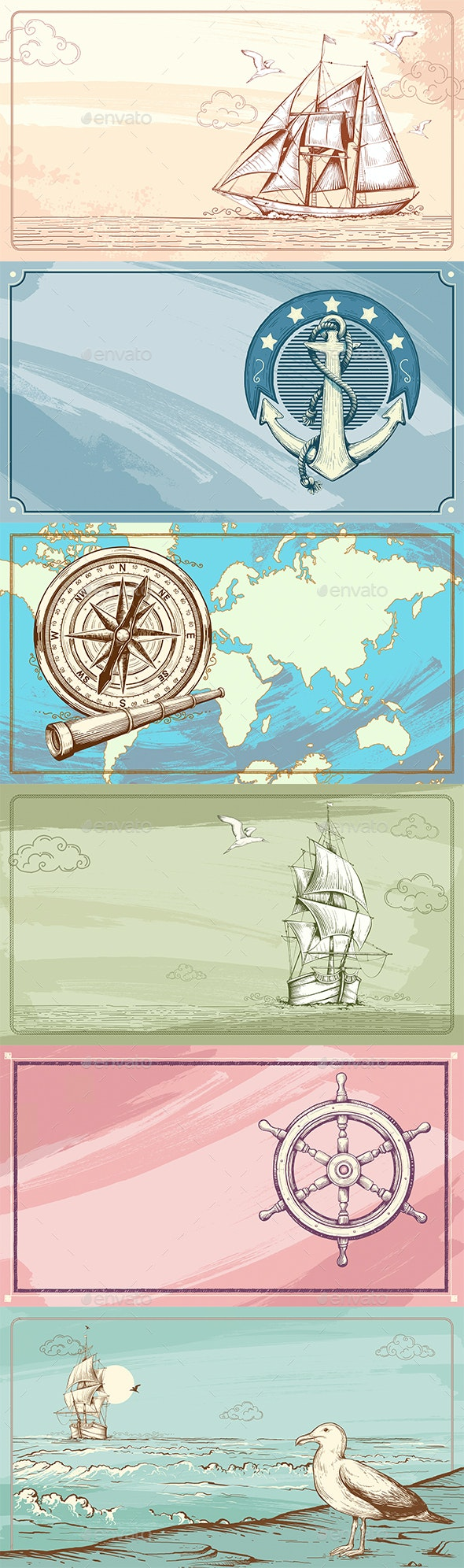 Sea Nautical Background - Backgrounds Graphics