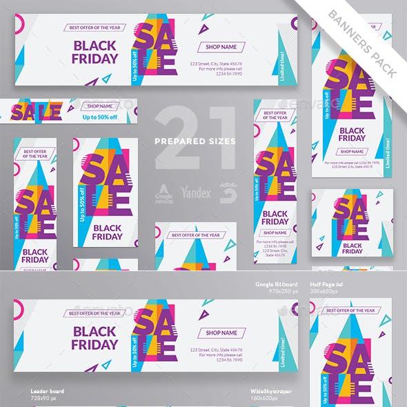 Black Friday Banner Pack