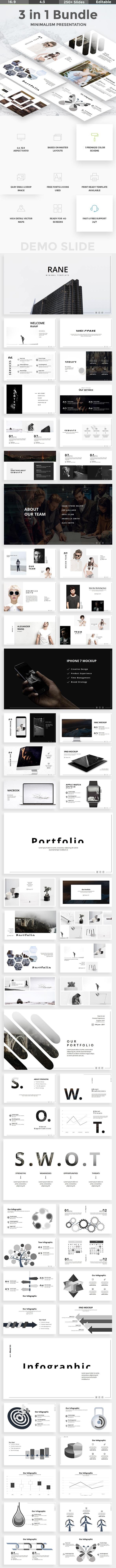 Minimal Bundle - 3 in 1 Powerpoint Template - Creative PowerPoint Templates