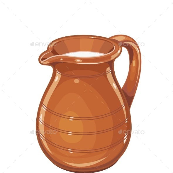 Ceramic Jug with Milk