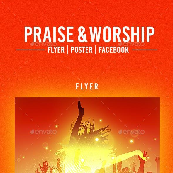 Praise & Worship Flyer Template