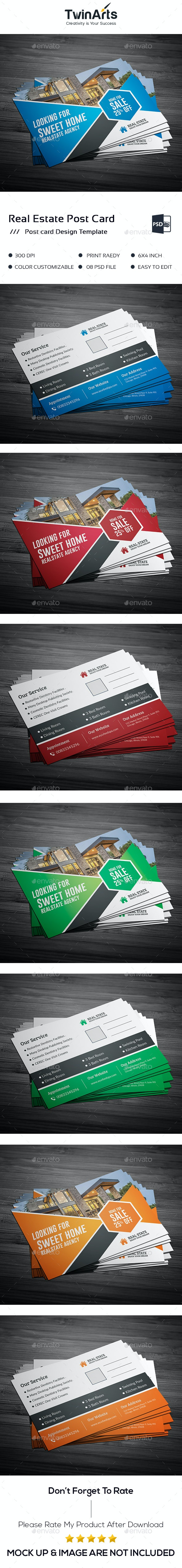 Real Estate Post Card Design - Cards & Invites Print Templates