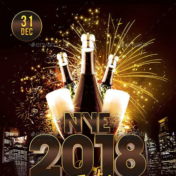 NYE 2018 Party Flyer
