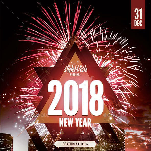 2018 New Year Party Flyer
