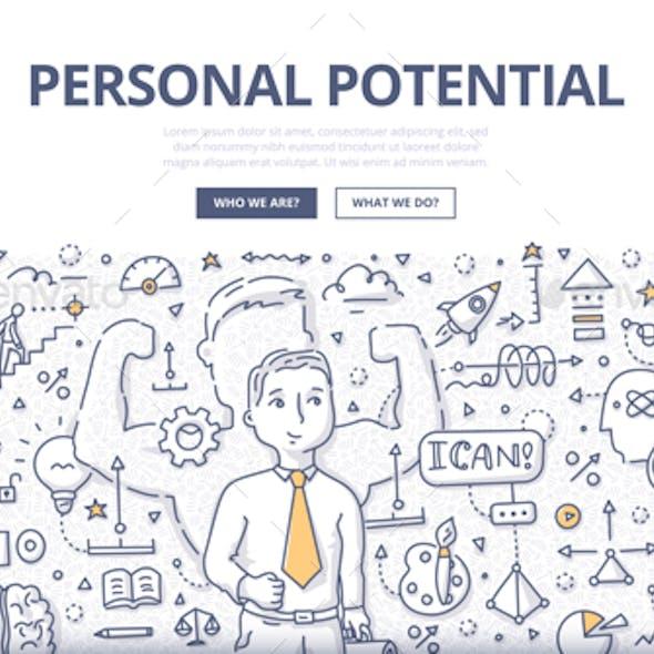 Personal Potential Doodle Concept