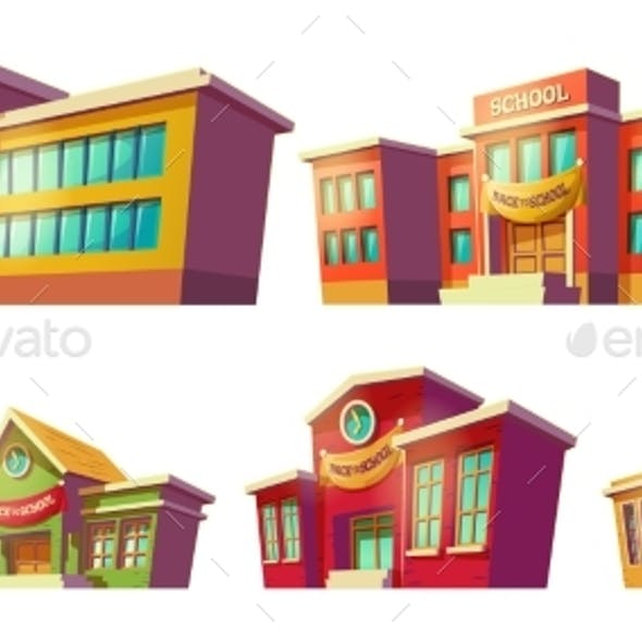 Set of Cartoon Buildings