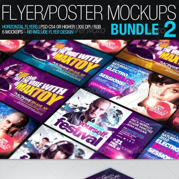 Flyer Poster Mockups Bundle 02