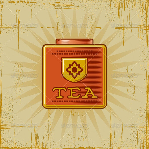 Retro Tea Can - Food Objects