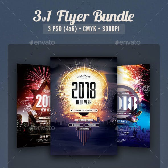 New Year Flyer Bundle Vol.04