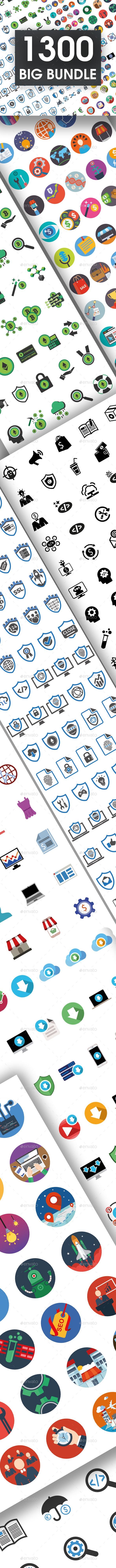 1300 Big Bundle Icons - Icons