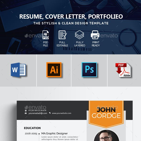 Resume CV Template 3 Pages