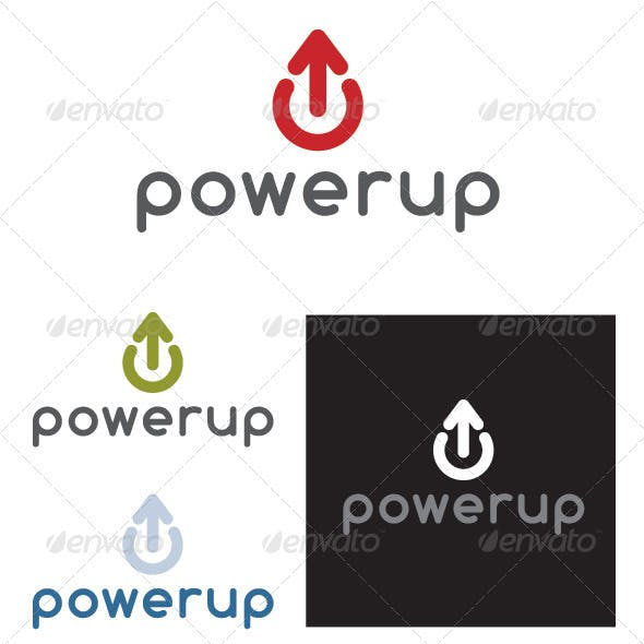 Power Up Logo Template