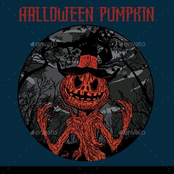 Halloween Pumpkin T-shirt Design