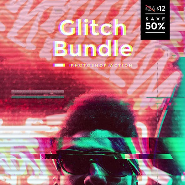 Glitch Bundle Photoshop Actions