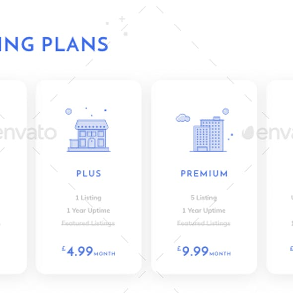 Clean Pricing Cards UI with Illustrations