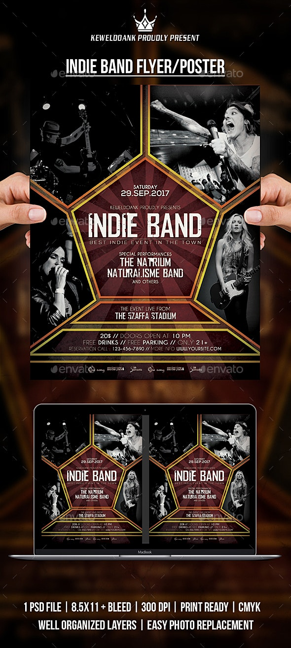 Inide Band Flyer / Poster - Events Flyers