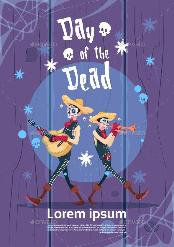 Day of Dead Traditional Mexican Halloween Holiday - Miscellaneous Seasons/Holidays