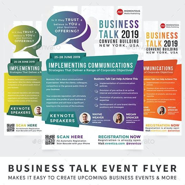 Business Talk Event Flyer
