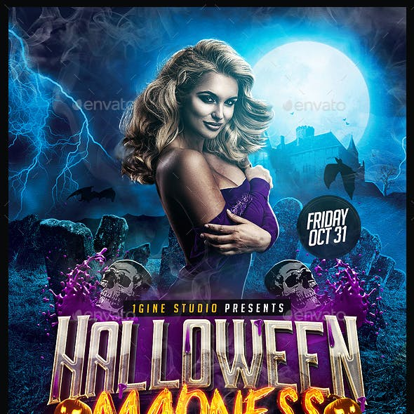 Halloween Madness Party Flyer Template