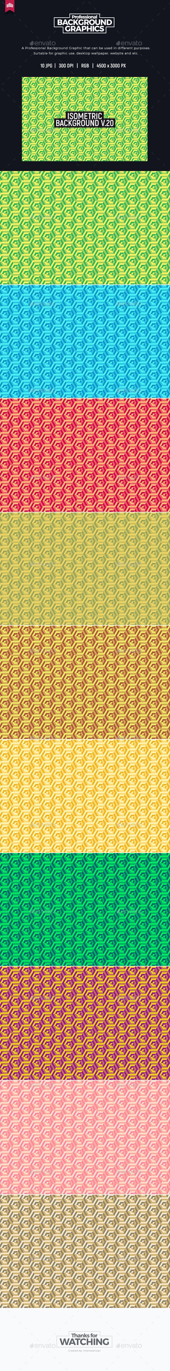Isometric Background V.20 - Patterns Backgrounds