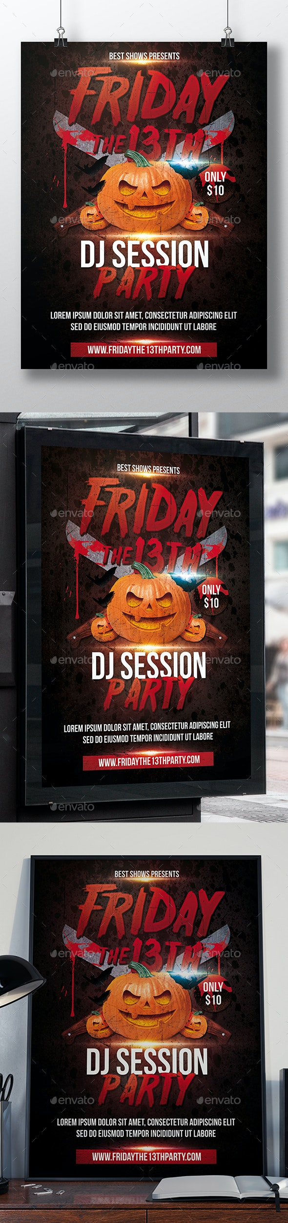 Horror Friday 13th Flyer - Clubs & Parties Events