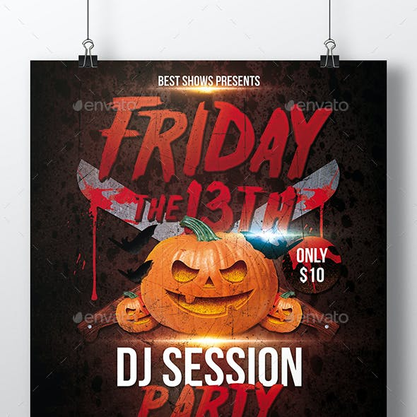 Horror Friday 13th Flyer