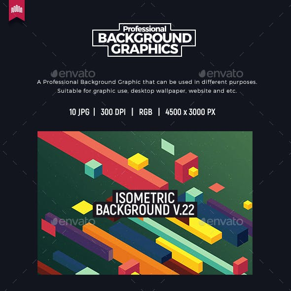 Isometric Background V.22