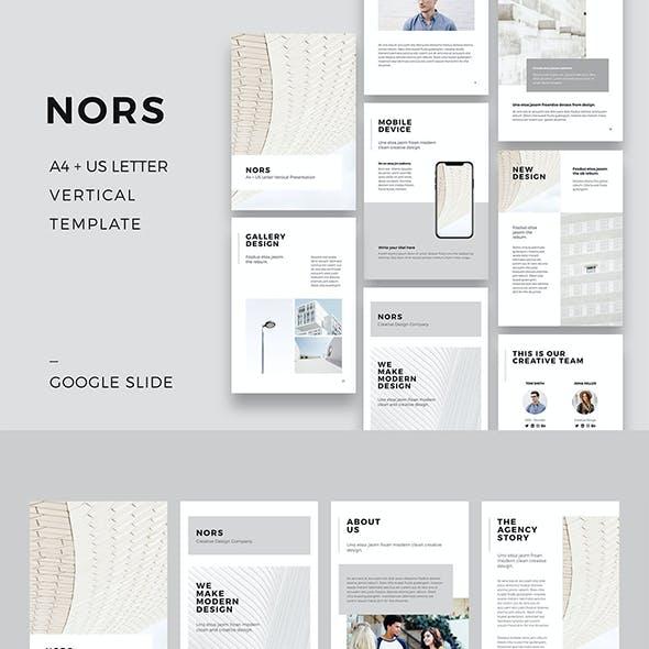 NORS Vertical Google Slides A4 US Letter Template