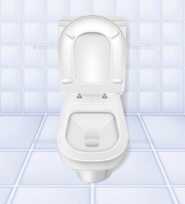 Toilet Mockup - Man-made Objects Objects