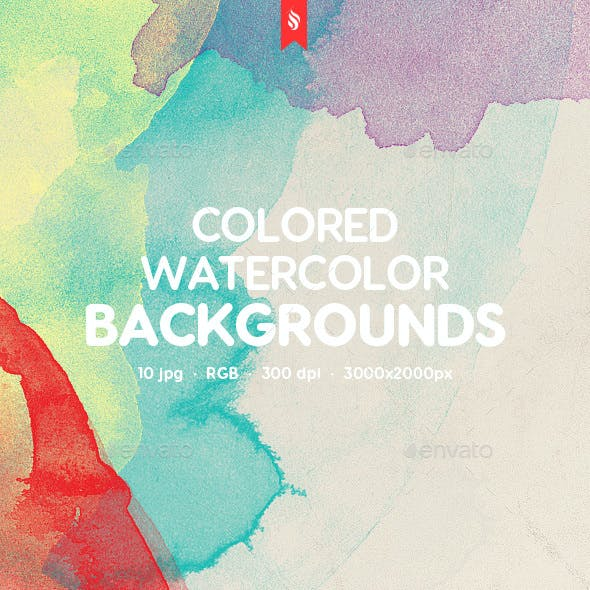Colorful Watercolor Frame Backgrounds